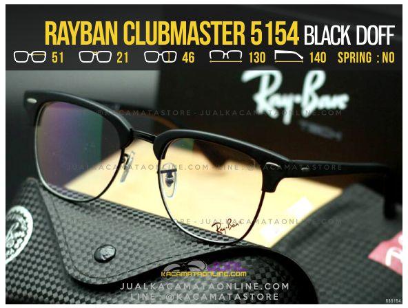Jual Kacamata Retro Rayban Clubmaster RB5154 Black Doff