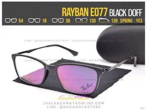 Model Kacamata Baca Terbaru Rayban E077 Black doff