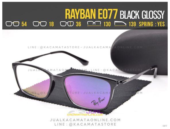 Gambar Kacamata Baca Terbaru Rayban E077 Black Glossy