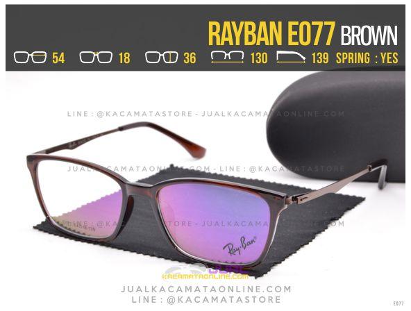 Grosir Kacamata Baca Terbaru Rayban E077 Brown