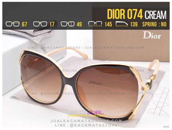 Gambar Kacamata Cewek Berhijab Dior 074 Cream
