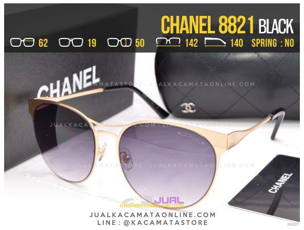 Grosir Kacamata Cewek Terbaru Chanel 8821 Black