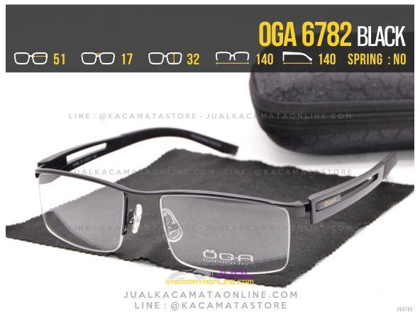 Gambar Kacamata Half Frame Oga 6782 Black