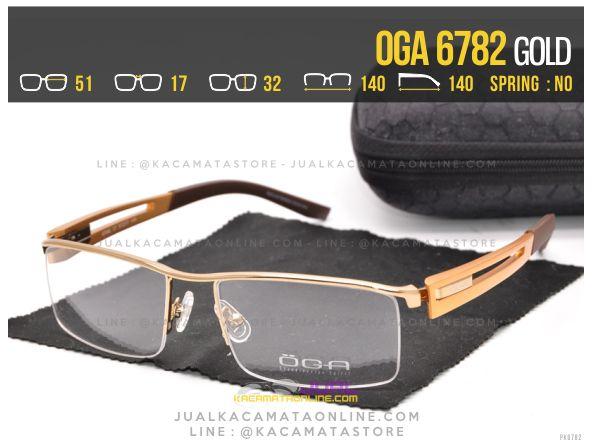 Jual Kacamata Half Frame Oga 6782 Gold