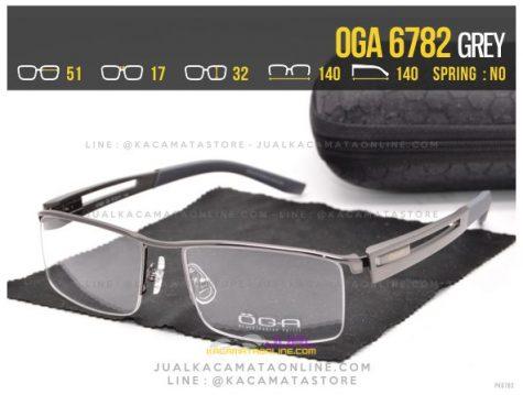 Model Kacamata Half Frame Oga 6782 Grey