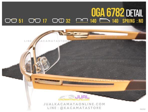 Jual Kacamata Half Frame Oga 6782 Kacamata minus