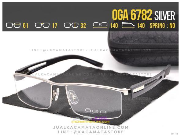 Harga Kacamata Half Frame Oga 6782 Silver