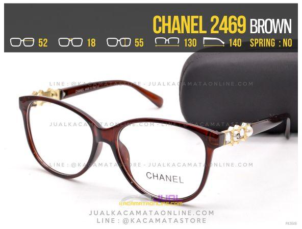 Grosir Kacamata Minus Terbaru Chanel 2469 Brown