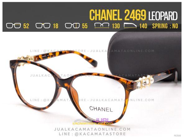 gambar Kacamata Minus Terbaru Chanel 2469 Leopard