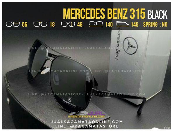 Gambar Kacamata Pria Terbaru Mercedes Benz 315 Black
