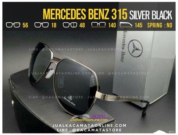 Model Kacamata Pria Terbaru Mercedes Benz 315 Black Silver