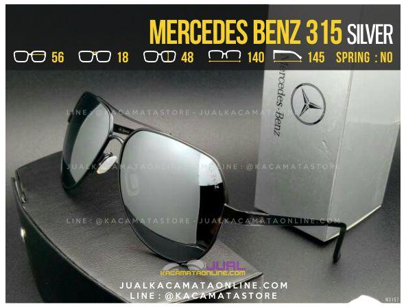 Jual Kacamata Pria Terbaru Mercedes Benz 315 Silver