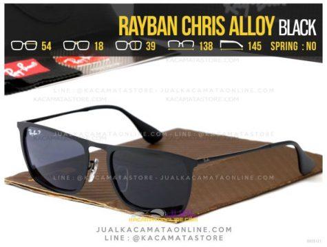 Grosir Kacamata Terbaru Rayban Chris Alloy Black