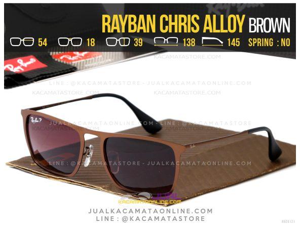 Gambar Kacamata Terbaru Rayban Chris Alloy Brown