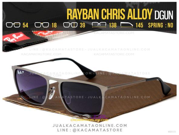 Jual Kacamata Terbaru Rayban Chris Alloy Dgun
