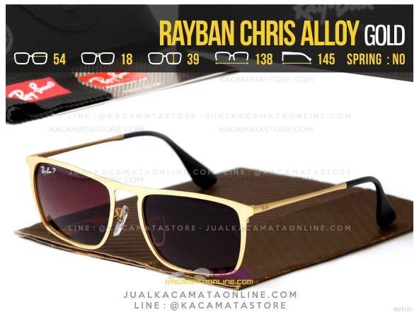 Model Kacamata Terbaru Rayban Chris Alloy Gold