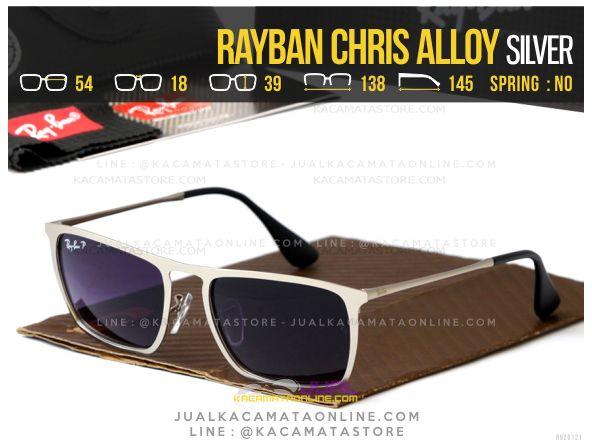 harga Kacamata Terbaru Rayban Chris Alloy Silver