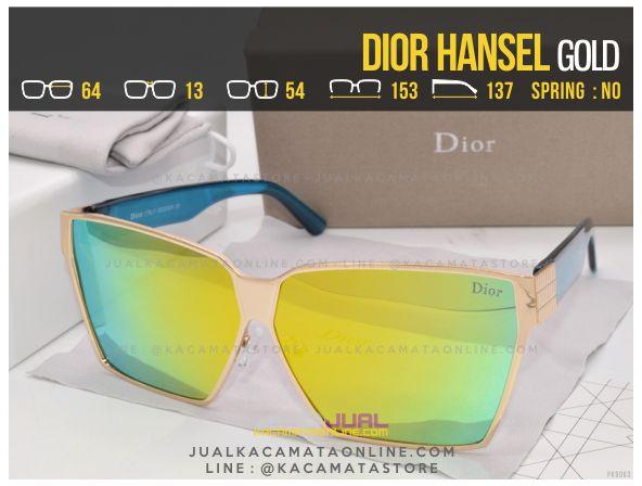 Harga Kacamata Wanita Terbaru Dior Hansel Gold