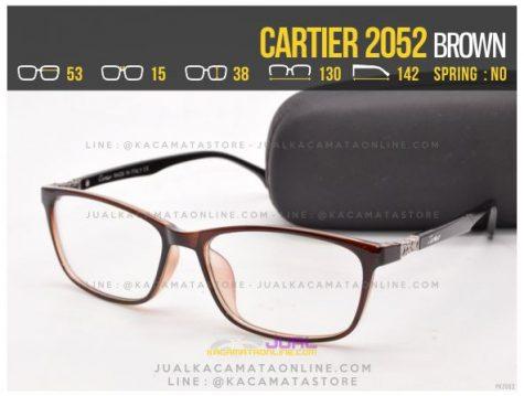 Trend Kacamata Minus Terbaru Cartier 2052 Brown
