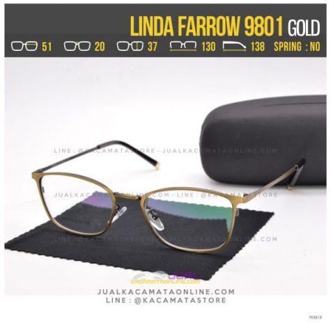 Gambar Frame Kacamata Optik Linda Farrow 9801 Gold