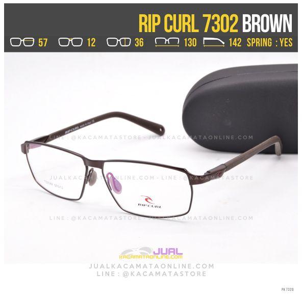 Model Frame Kacamata Pria Terbaru Ripcurl 7301 Brown
