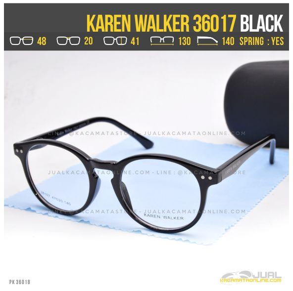 Model Kacamata Minus Wanita Terbaru Karen Walker 36017 Black