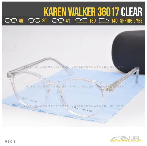 Trend Kacamata Minus Wanita Terbaru Karen Walker 36017 Clear