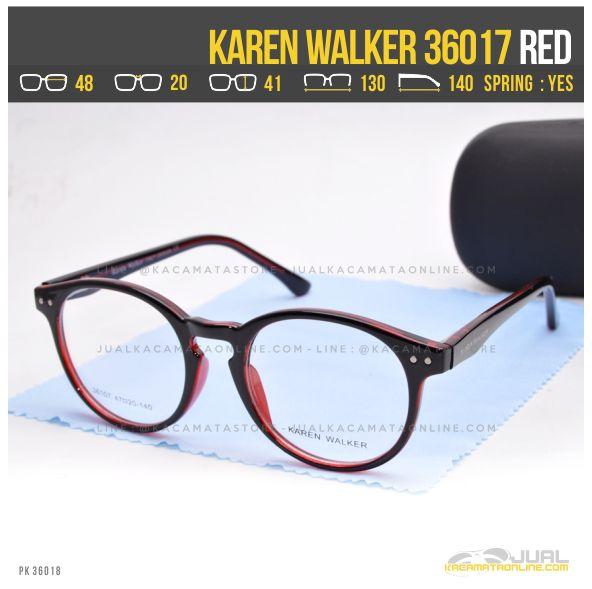 Jual Kacamata Minus Wanita Terbaru Karen Walker 36017 Red