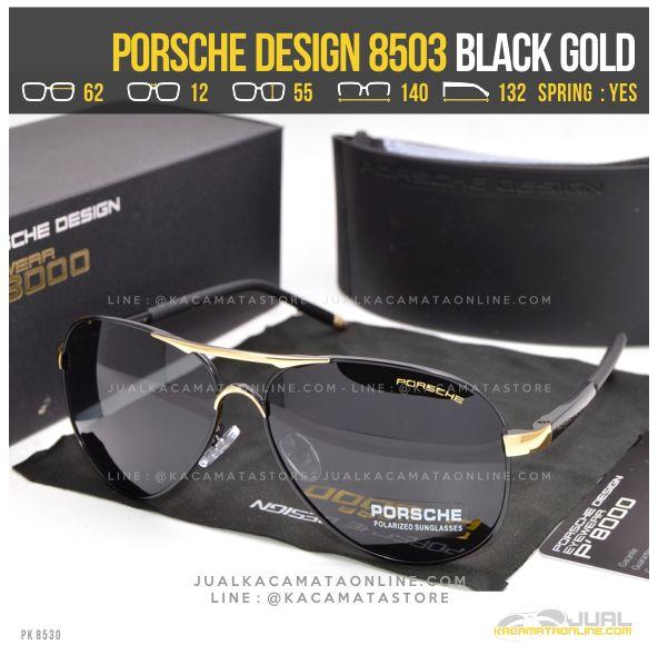 Model Kacamata Pria Terbaru Porsche Design 8503 Black Gold