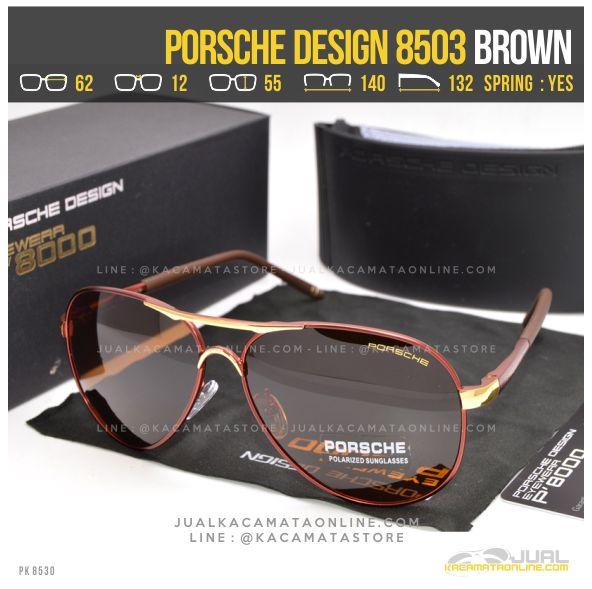 Gambar Kacamata Pria Terbaru Porsche Design 8503 Brown