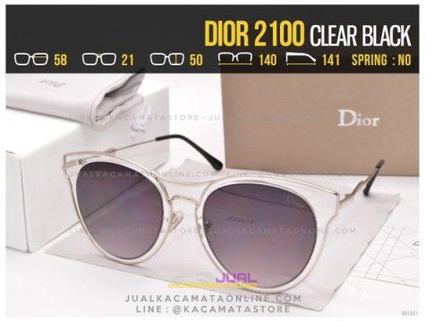Jual Kacamata Wanita Terbaru 2017 Dior 2100 Clear Black