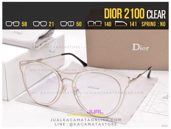 Grosir Kacamata Wanita Terbaru 2017 Dior 2100 Clear