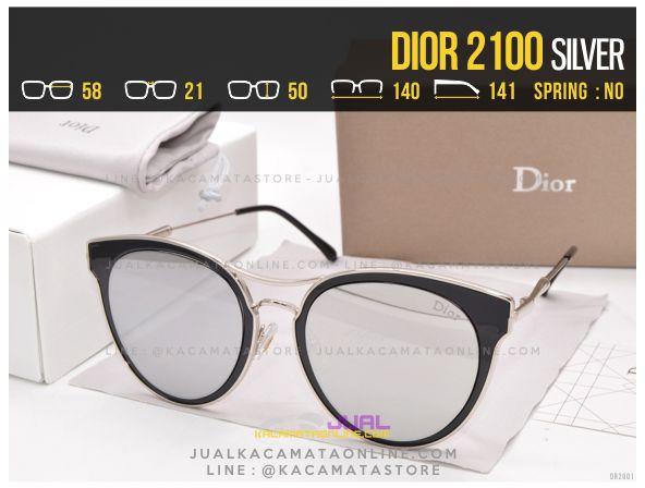 Gambar Kacamata Wanita Terbaru 2017 Dior 2100 Silver
