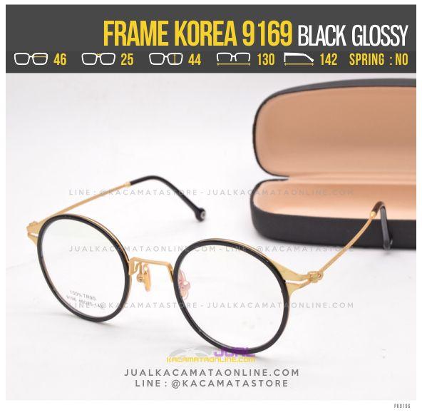 Jual Frame Kacamata Korea Murah 9196 Black Glossy