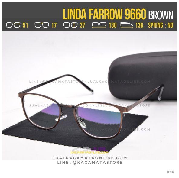 Model Frame Kacamata Baca Linda Farrow 9660 Brown