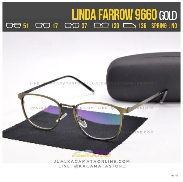 Jual Frame Kacamata Baca Linda Farrow 9660 Gold