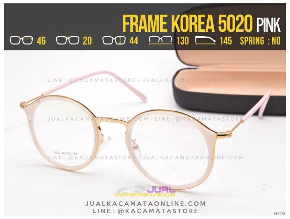 Model Frame Kacamata Bulat 5020 Pink