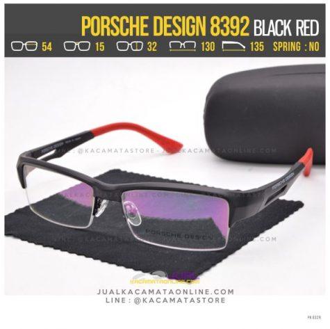 Jual Frame Kacamata Pria Porsche Design 8392 Black Red