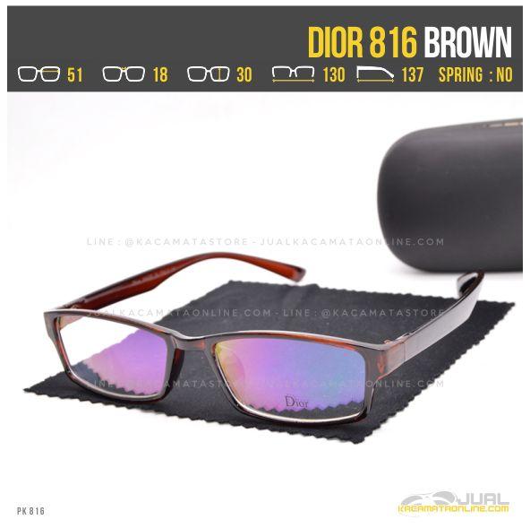 gambar Frame Kacamata Terbaru Dior 816 Brown