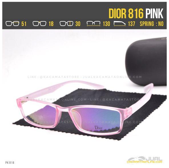 Jual Frame Kacamata Terbaru Dior 816 Pink