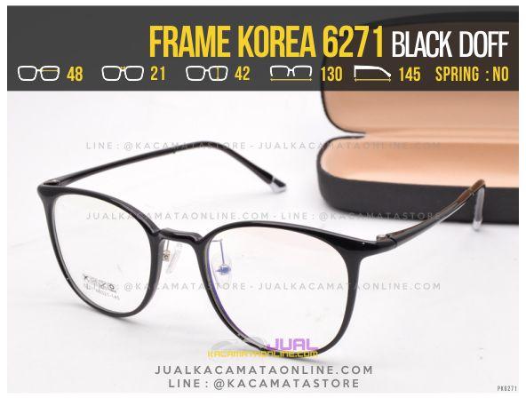 Gambar Kacamata Korea Terbaru 6271 Black Doff