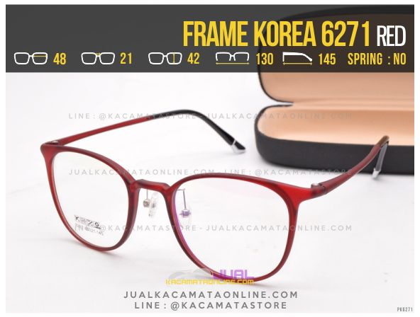 Model Kacamata Korea Terbaru 6271 Red