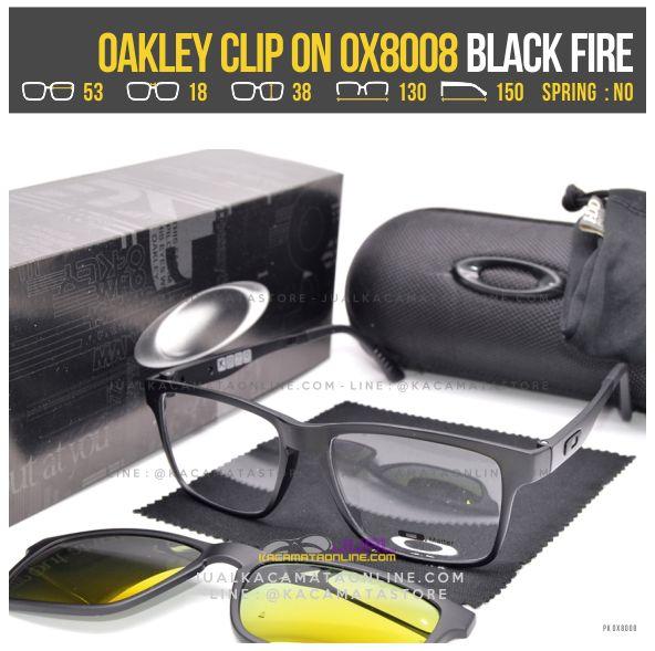 Harga Kacamata Minus Double Lensa Oakley 8008 Black Fire