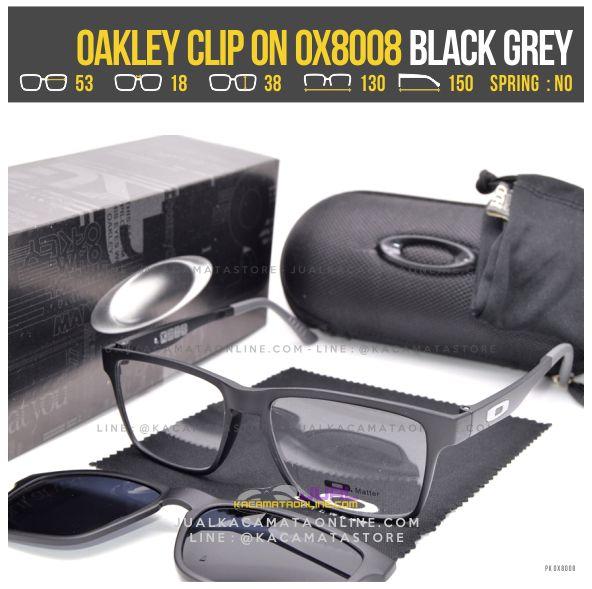 Gambar Kacamata Minus Double Lensa Oakley 8008 Black Grey