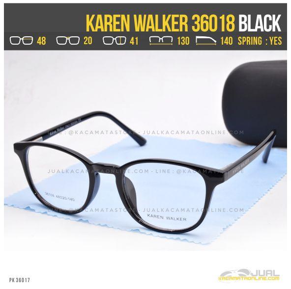 gambar Kacamata Minus Wanita Terbaru Karen Walker 36018 Black