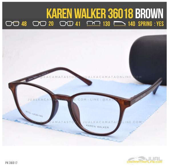 Model Kacamata Minus Wanita Terbaru Karen Walker 36018 Brown