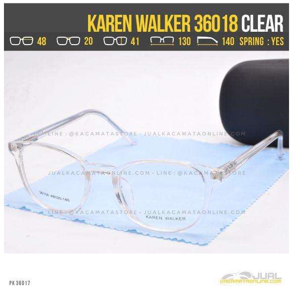 Jual Kacamata Minus Wanita Terbaru Karen Walker 36018 Clear