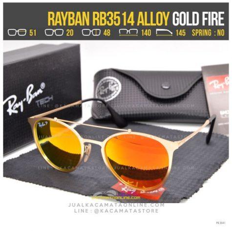Jual Kacamata Rayban RB3514 Alloy Gold Fire