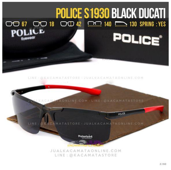 Grosir Kacamata Sporty Police S1930 Black ducati
