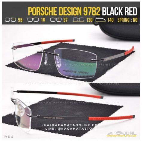 Harga Kacamata Tanpa Bingkai Porsche Design 9782 Black Red